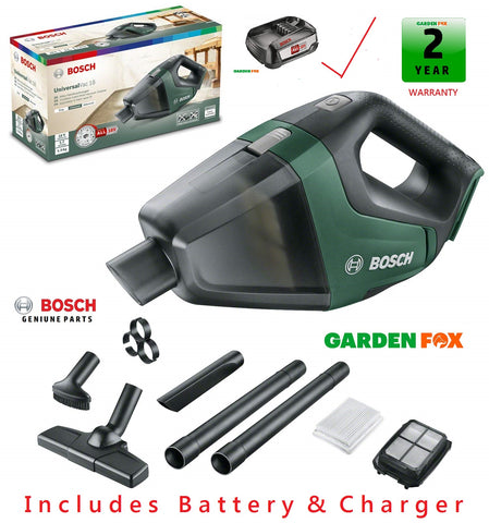 new £113.77 INCLUDES Battery & Charger Bosch UniversalVAC 18 Vacuum 06033B9100 3165140941303