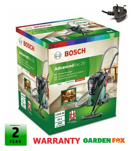 New £106.97 BOSCH Advanced VAC20 AllPurpose VACUUM CLEANER 06033D1270 3165140874014