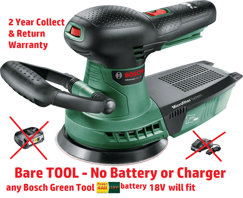 new BARE Bosch advanced Cordless ORBITAL SANDER 06033D2100 3165140874618