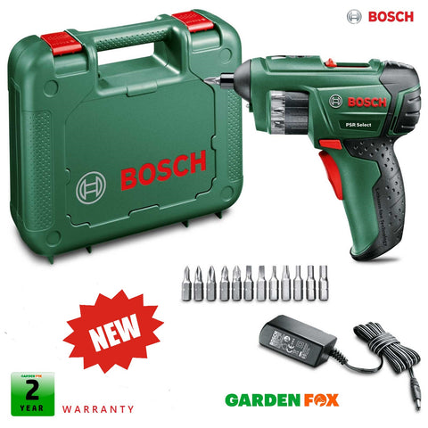 new Bosch PSR Select Cordless SCREWDRIVER - 0603977071 4053423207262.