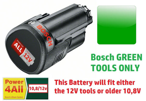 new 2.5AH BOSCH Tool 12v Battery Li-ION 1600A00H3D 3165140852623