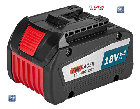 new Bosch COOL PACK GBA 18V 6.3AH EneRACER BATTERY 1600A00R1A 3165140885720