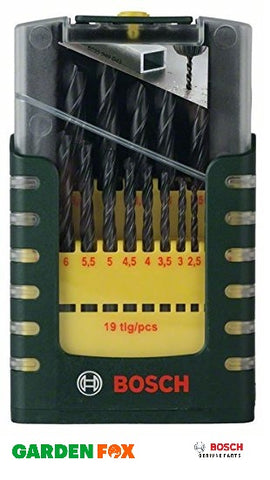 New £11.37 Bosch HSS-R METAL DRILL SET 19 Piece 2607017151 3165140647700.
