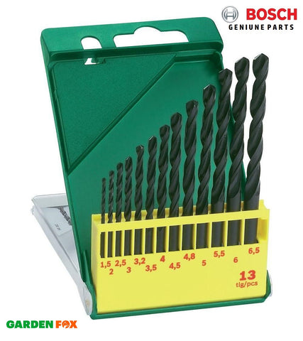 new BOSCH 13 BIT HSS-R DRILL BIT SET 130x75x12 2607019441 3165140415590