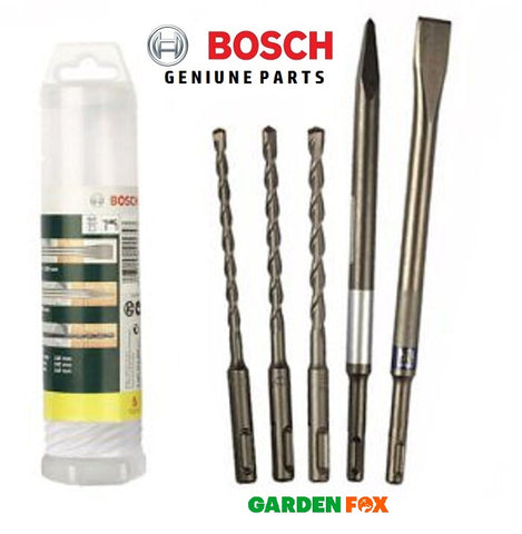 new BOSCH 5 Piece SDS Chisel and Drill Bit 2607019456 3165140415743