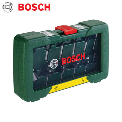new Bosch DIY 12BIT TC Router Set POF1200 POF1400 2607019465 3165140415835