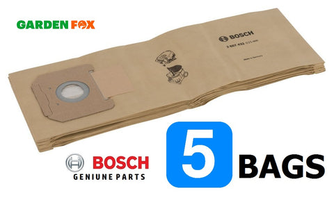 new Bosch GAS35 Dust Extractor 5 PAPER FILTER BAGS 2607432035 3165140713580