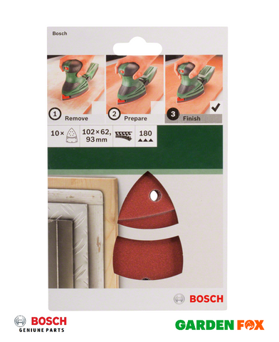 BOSCH SANDING SHEETS (10PK) for Multi Sanders 2609256A65 3165140614818