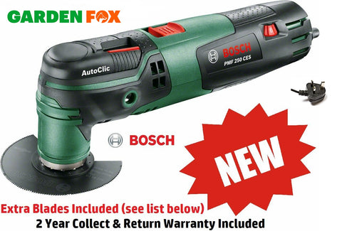new Bosch PMF250CES SET Multi-Function Tool 250w 0603102171 4053423200560
