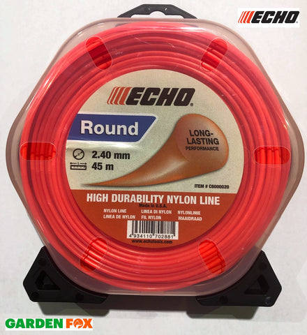 Genuine ECHO Round Line STRIMMER CORD 45Metres 2.4mm Thickness 4934110702881