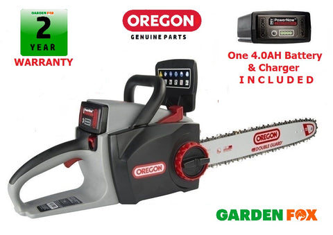 "New £347.77 OREGON 16"" CS300 4.0ah 36V Cordless Chainsaw 573019 5400182213956"