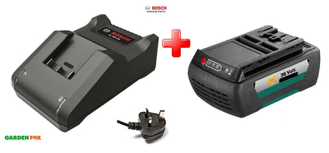 New £139.77 Bosch 2.0AH GREEN TOOL Battery & Charger 36V Power Pack 36V