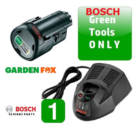 New £79.97 Bosch 2.5AH 12V GREEN TOOL Battery & Charger 12V Power Pack