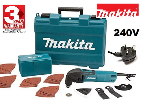 MAKITA TM3000CX4 Mains Electric MULTI TOOL 240V - TM3000CX4 0088381632256