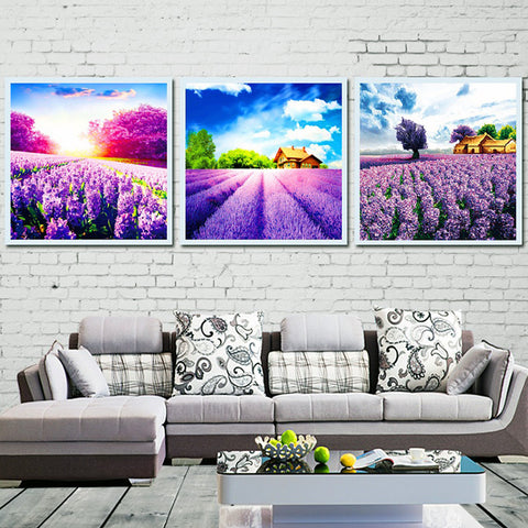 DIY Painting By Numbers - Lavender Field