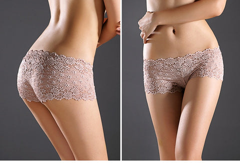 Ladies Sexy Lace Waist Hip briefs