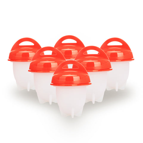 Image of 6 PCS Silicone Egglettes Egg Cooker