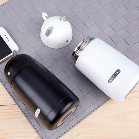 Cute Cat Portable Thermos Mug
