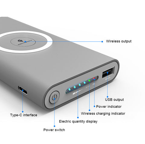 10000 mAh Universal Wireless Power bank