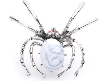 Spider brooch stone