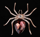 Spider brooch crystal