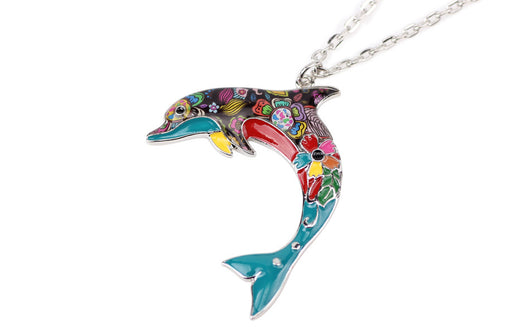 Colourful enamel dolphin