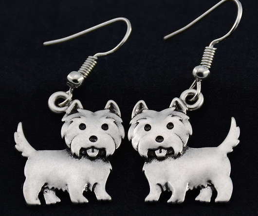 West Highland Terrier earrings