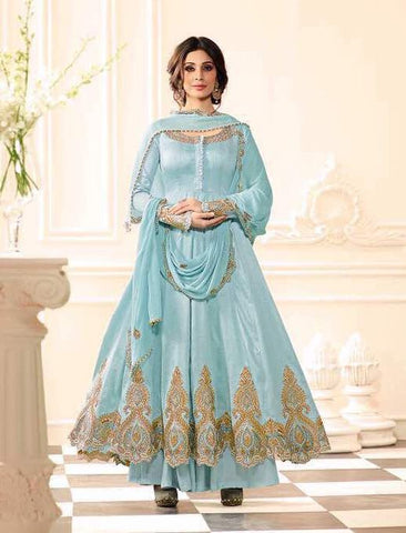 Sky Blue embroider salwar