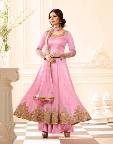 Rose embroider salwar