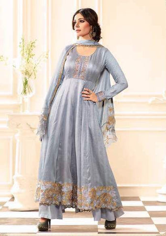 Pewter embroider salwar
