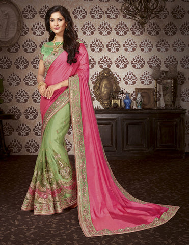 Punch Embroider saree