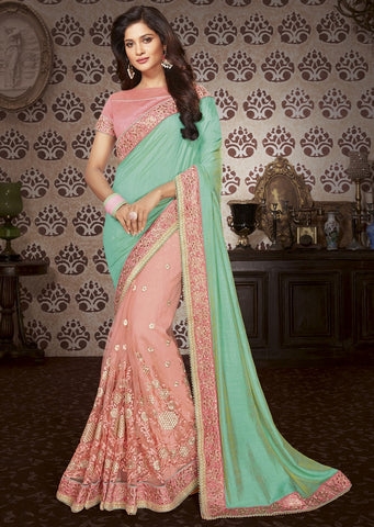 Fern Embroider saree