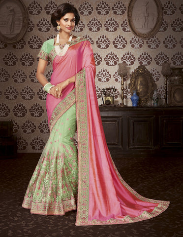 Rough embroider saree