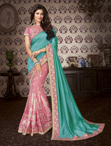 Rose Embroider saree