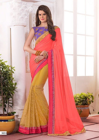 Candy Embroider saree