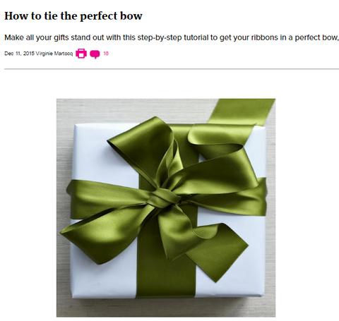 Ribbon bow is a classic