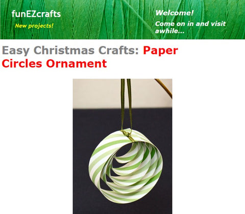 Ribbon Circles Ornaments