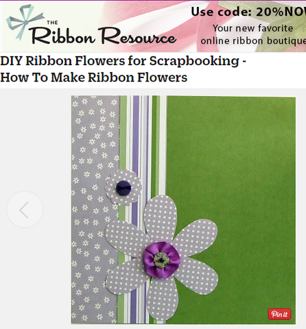 DIY Ribbon Flowers for Scrapbooking