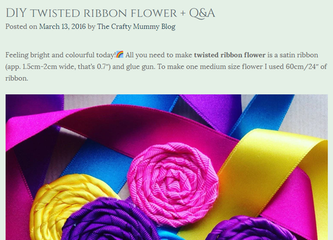 DIY Twisted ribbon flower