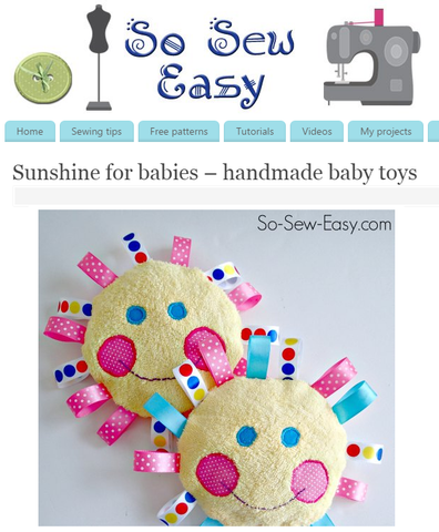 Sunshine for babies – handmade baby toys