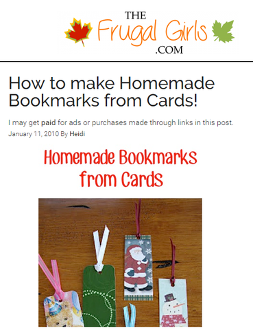 How to make Homemade Bookmarks from Cards