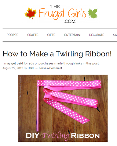 How to Make a Twirling Ribbon