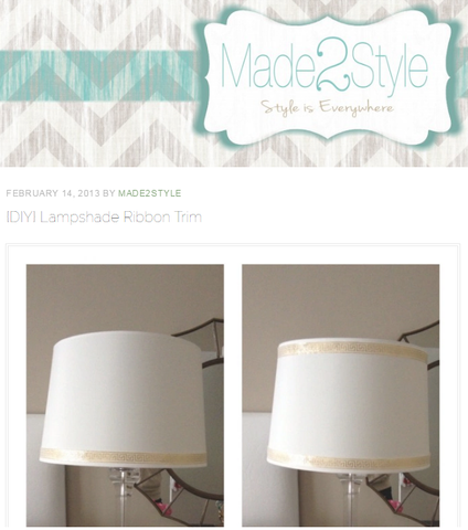 DIY Lampshade Ribbon Trim