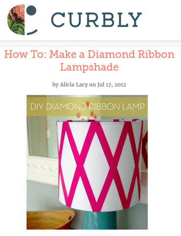 Make a Diamond Ribbon Lampshade