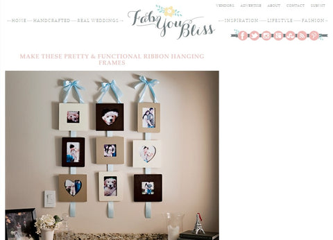 Ribbon Hanging Frames