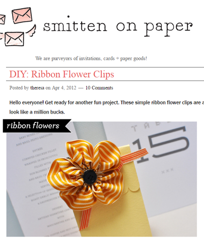 DIY: Ribbon Flower Clips