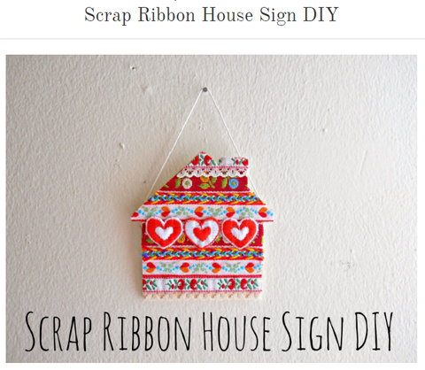 Scrap Ribbon House Sign DIY