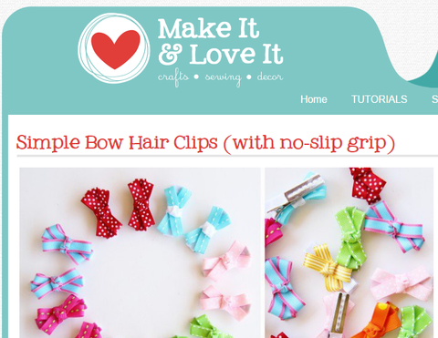 Small ribbon bows for hair clips