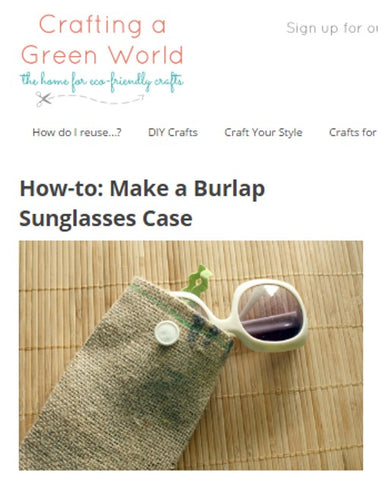 Sunglasses Burlap Case