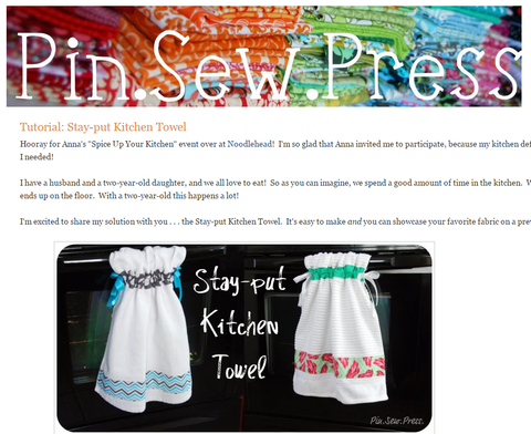 Tutorial: Stay-put Kitchen Towel